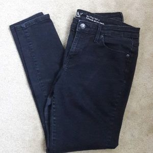 Mossimo midrise skinny jeans black